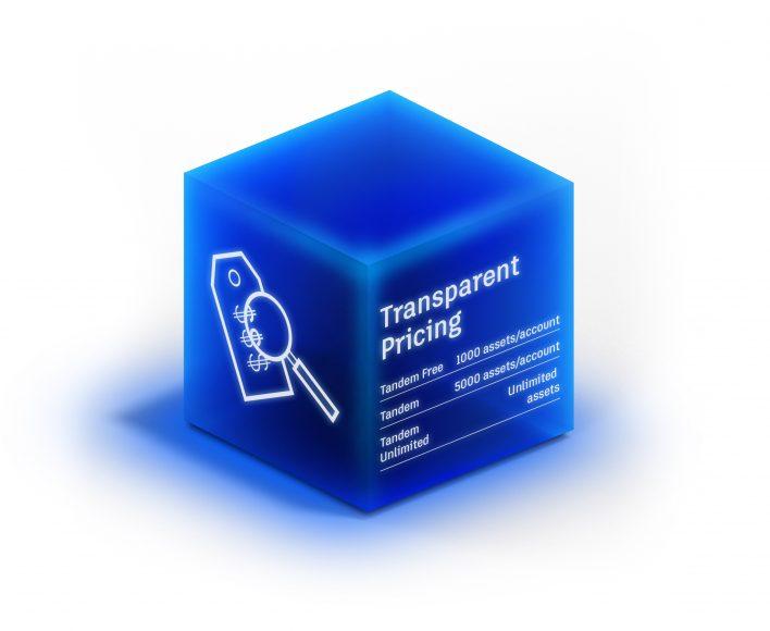 Tandem for AEC Firms - Transparent pricing cube